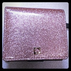 Rose glittered wallet